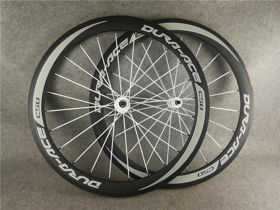 듀라 에이스 c50 clincher 자전거 바퀴 바퀴 700c 도로 자전거 경주 바퀴 자전거 바퀴 탄소 레이스 바퀴