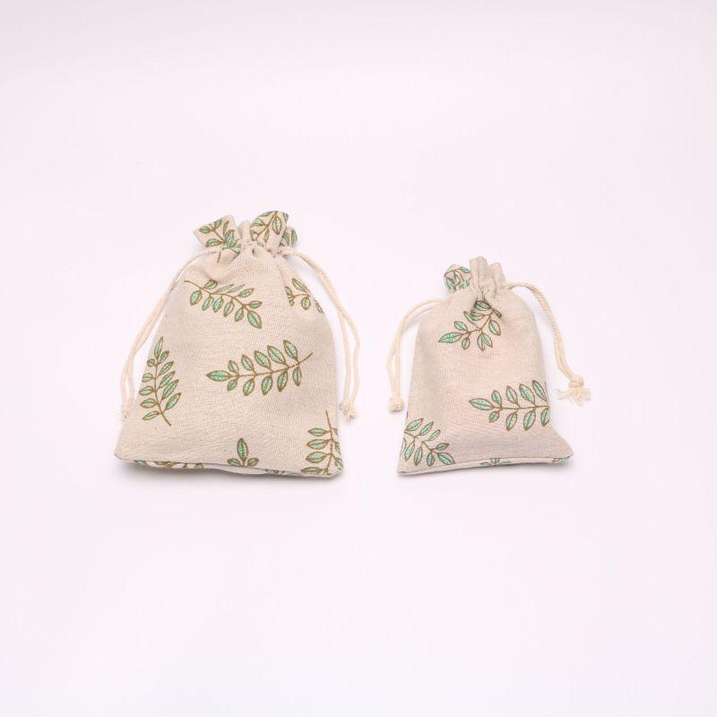Novos sacos de cordão de algodão bolsa de jóias bolsa de presente de presente e festivais decoração de embalagem Suporte favor 10 * 13cm / 13 * 17cm