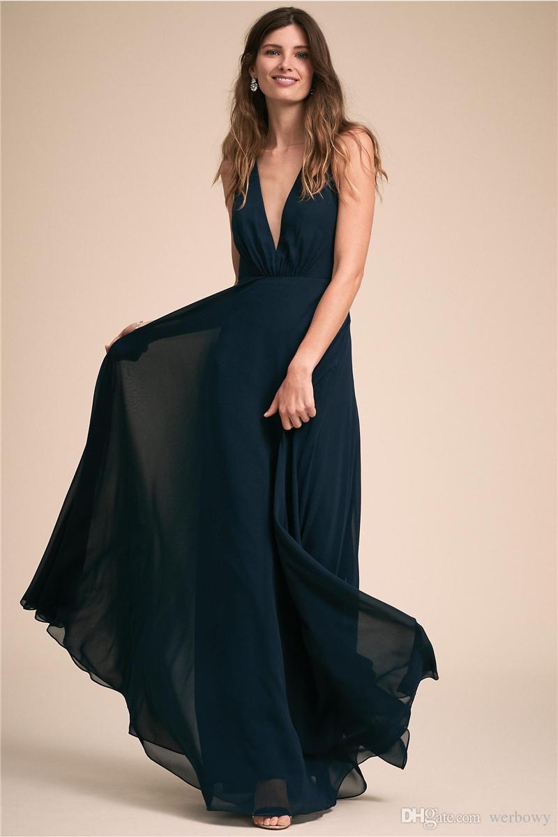 Compre Chaleco Francés V De Espalda Baja Y Elegante Un Estilo Vestidos De Dama De Honor Vestidos De Noche De Bolas De Múltiples Colores Hy4187 A