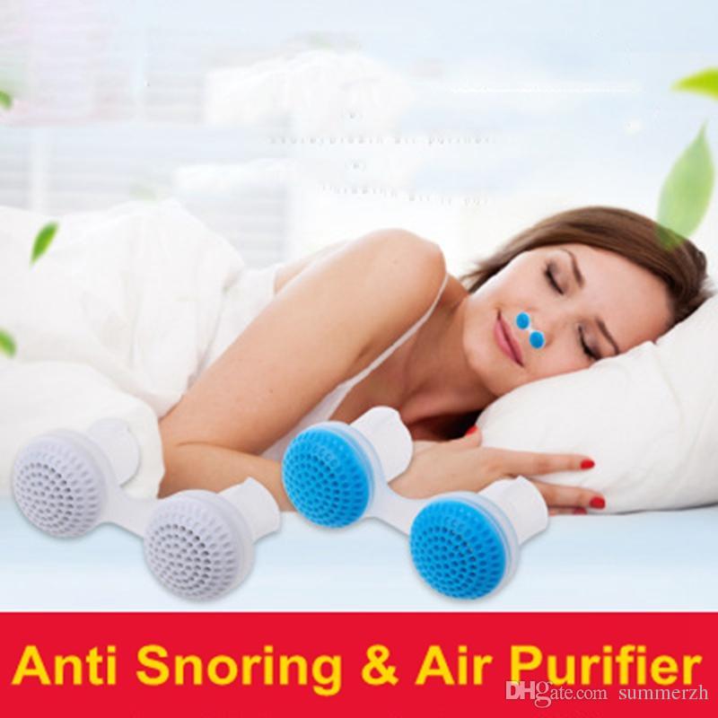 2018 New Arrival 2 Em 1 Anti Ronco Purificador de Ar Clipe Nariz Respiração Guarda Dormir Anti Dispositivo de Cessação Ronco Parar de Snoreguard