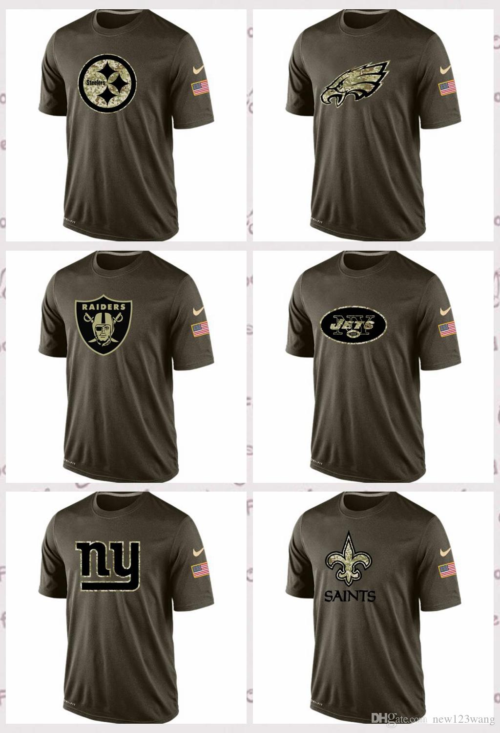 save off 3561b d8ed0 2019 New Orleans Saints New York Giants New York Jets Oakland Raiders  Philadelphia Eagles Pittsburgh Steelers Salute To Service T Shirt From  Hxxy99, ...