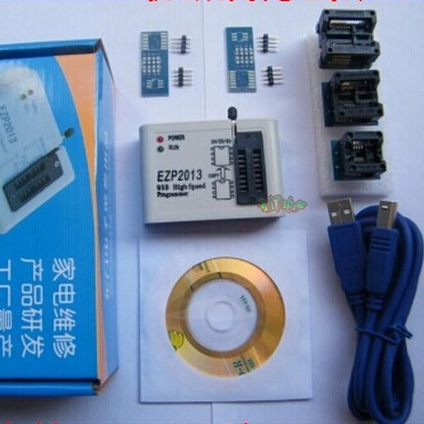 Freeshipping EZP2013 USB Programcı SPI 24 25 93 EEPROM Flaş Bios Chip + Yazılım + Soket