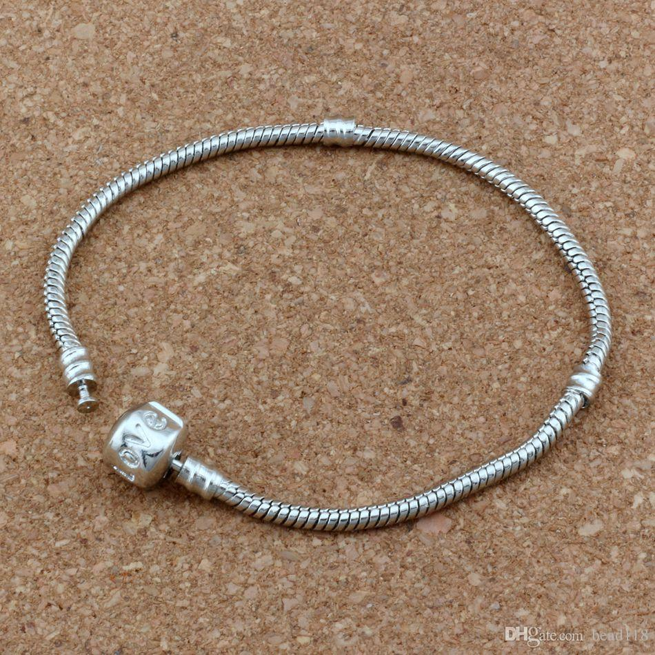 Silver Tone Stainless Steel European Charm Beads Fit Bracelet Necklace Chain