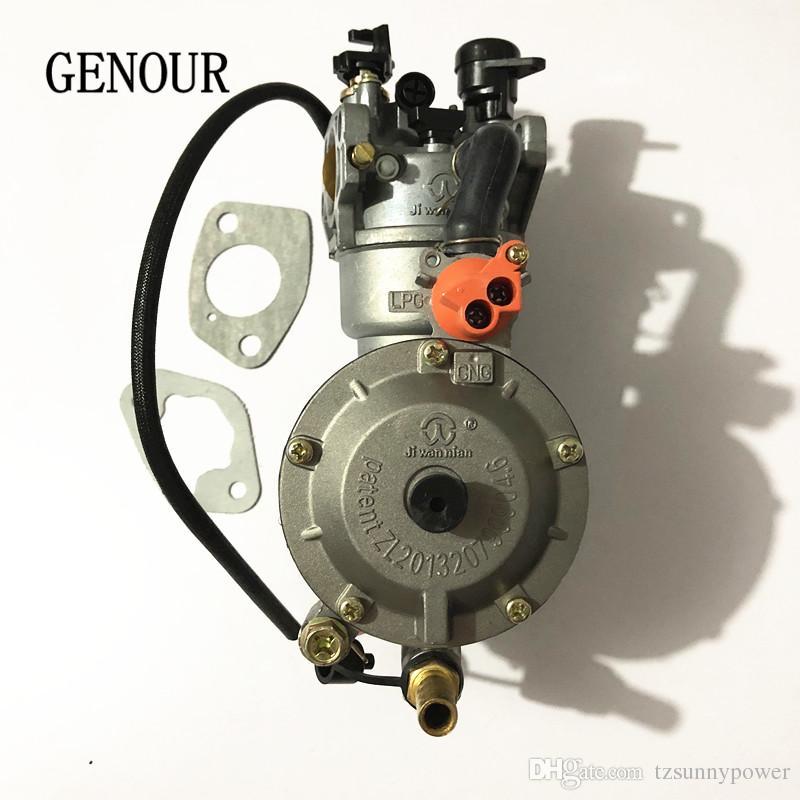 Dual-Fuel Générateur Carburateur pour Honda GX390 188F 5KW Aut Starter LPG NG