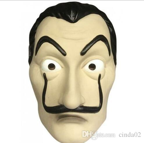 La Casa De Papel Mask for Men Women Salvador Dali Mask Halloween Carnival Christmas dali Mask
