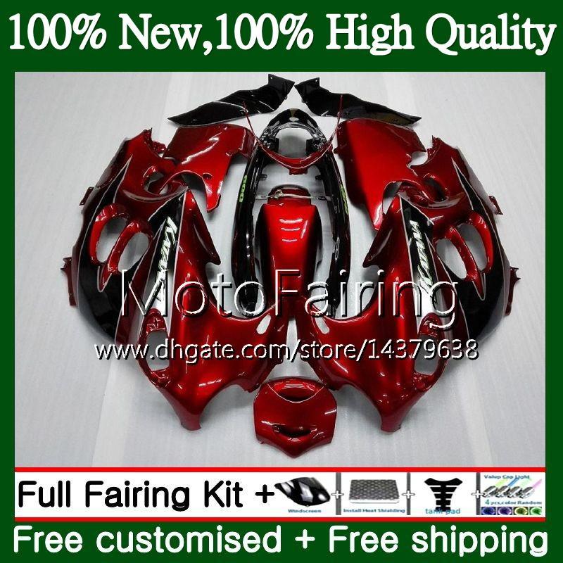 Rojo oscuro blk Cuerpo para SUZUKI KATANA GSXF 600 750 GSXF600 98 99 00 01 02 21MF21 GSX600F GSXF750 1998 1999 2000 2001 2002 Fairing Bodywork