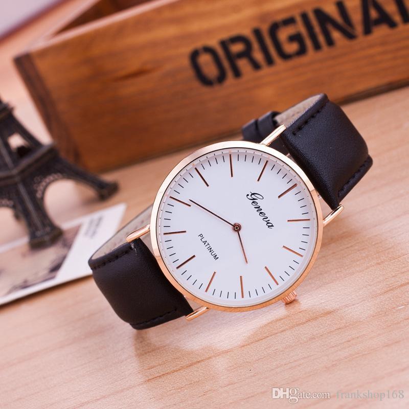 Nueva pareja reloj hombre y mujer amante reloj cuarzo writwatch hotsale reloj 1pc