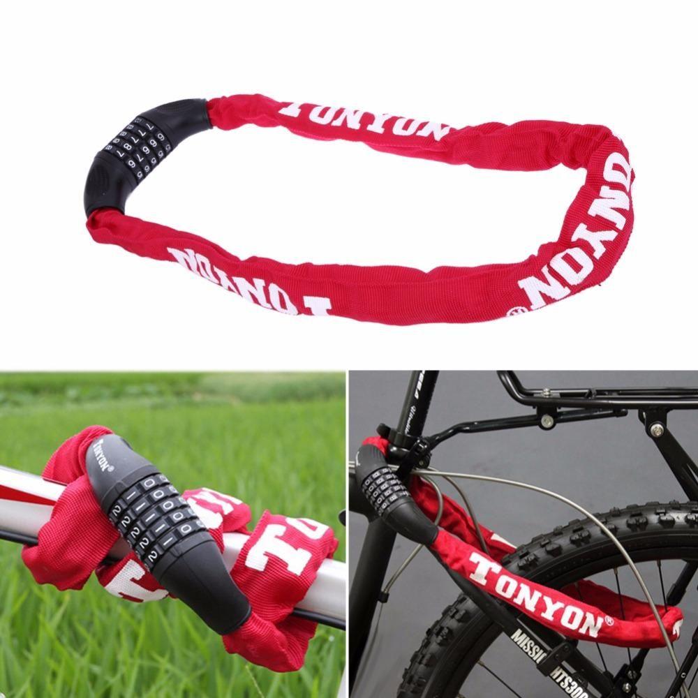 Bicycle Bike Chain Lock Security 5 Digit Password-Combination-Anti-theft Padlock