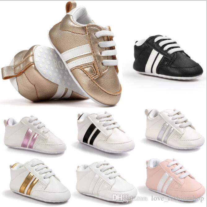 مزيج 19 ألوان الطفل أطفال لينة بو الجلود أحذية رياضية بنين بنات عدم الانزلاق الأولى ووكر طفل رضيع الوليد حذاء رياضة الأحذية