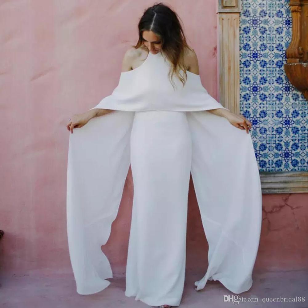 Abiti da sposa di moda 2019 con abiti da sposa da sposa lunghi con collo alto e vestidos de novia