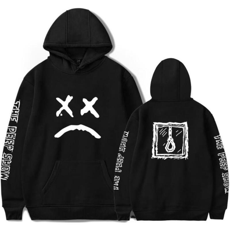 R.I.P Lil Peep Männer Hoodie Männer-Trainingsanzug Schwarz Weiß-Rosa-Grau Sudaderas Hombre Hip Hop Rapper Kapuzenjacke Männlich