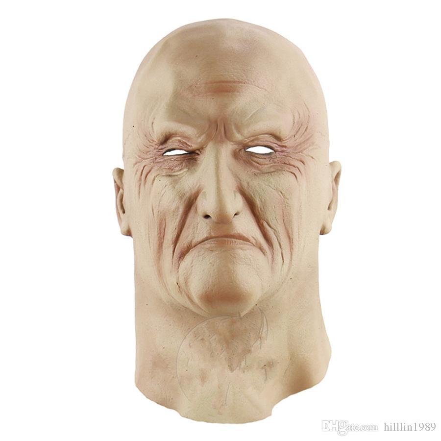 Zombie Vollkopfbedeckungen Geisterfest Scary Horror in New York Lustige Corpse Halloween Kostüm Zubehör Latex Old Man-Maske