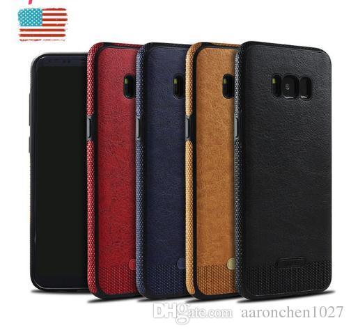 Luksusowa skóra PU miękka skrzynka dla Samsung Galaxy S6 Edge S7 S7edge S8 S8 Plus S9 Plus Note 8 Pokrywa Korek Protector Marka dla iPhone 8 x