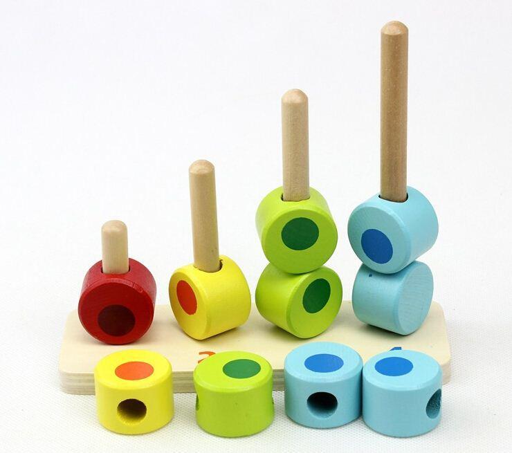 Insegnamento ausiliario di giocattoli in legno per bambini con istruttore di conteggio