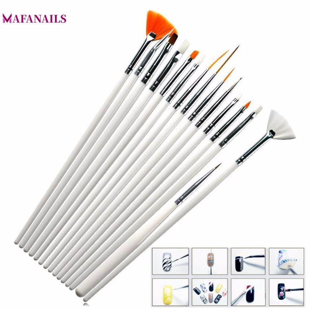 15 Pcs Professional Gel Nail Brushes 15 Sizes Nail Art Acrylic Brush Pens Wooden Handle Dotting Drawing Paint Brush Set #TPD-06#