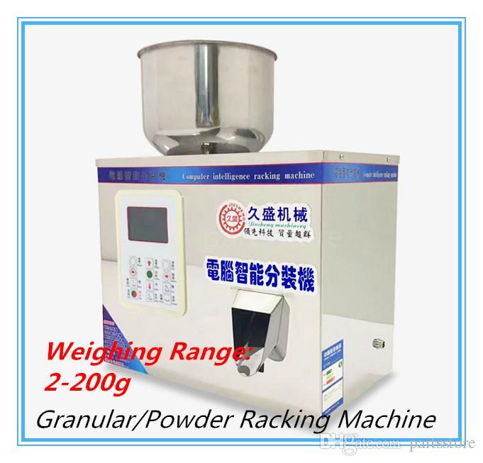 Machine de remplissage automatique de défilement de l'aliment 2-200g 220V / 110V dispositif de sous-emballage intelligent de machine de remplissage pour granulaire / poudre