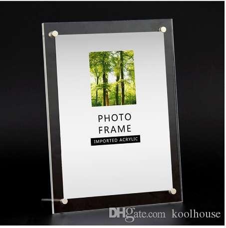 6/7/8/10/12 Polegada Photo Frame Acrílico Picture Frame Modern Photo Picture Titular Display Molduras de Casamento para Fotos