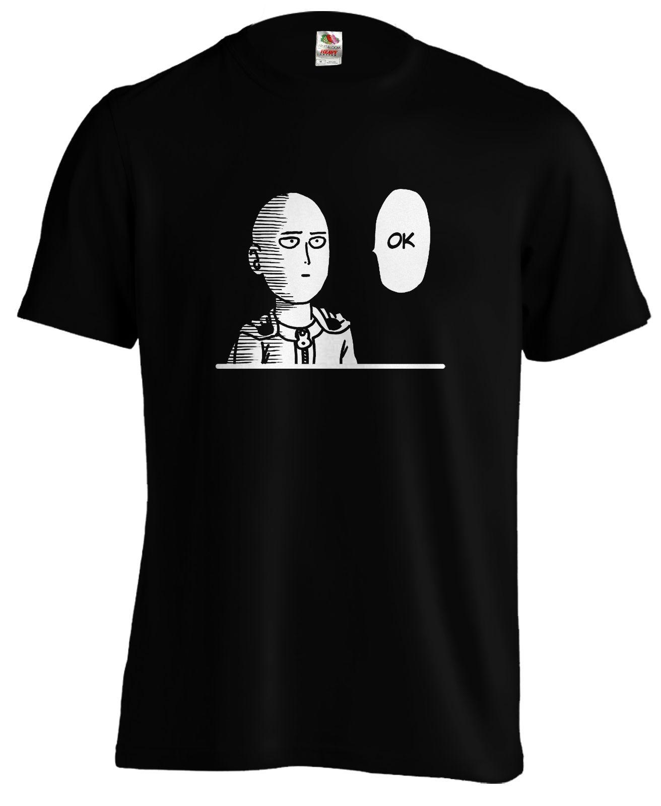 Saitama One Punch ok Onepunch t shirt tee anime Funny free shipping Unisex Casual tshirt gift