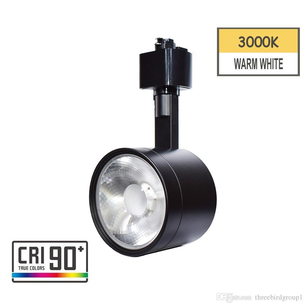 Светодиодные трек света головы трек светильник интегрированный CRI90 с 3000K теплый белый 110 В 12 Вт регулируемый угол, пригодный для H типа системы отслеживания