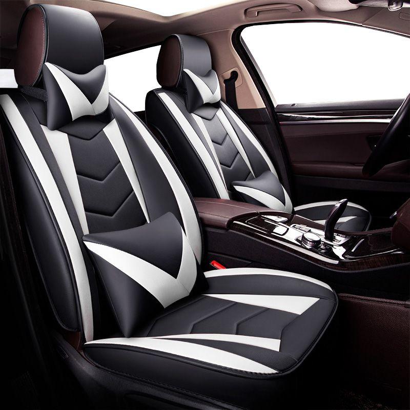 New Universal PU tampas de assento de carro de couro para Renault Koleos Kadjar Captur Megane estilo 2 3 Duster Kangoo automóveis acessórios