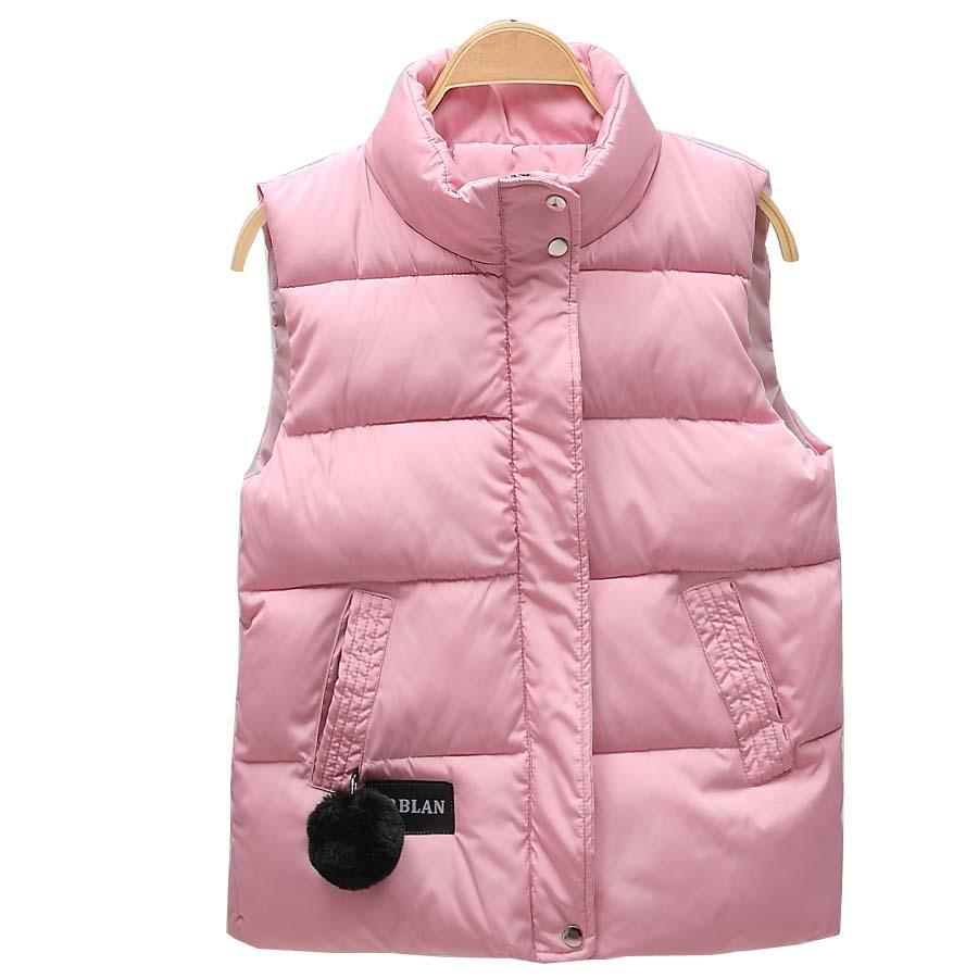 2020 осень зима женщин жилет Ворот мандарина рукавов короткий пальто женщин куртки жилет женский плюс размер chalecos пара Mujer