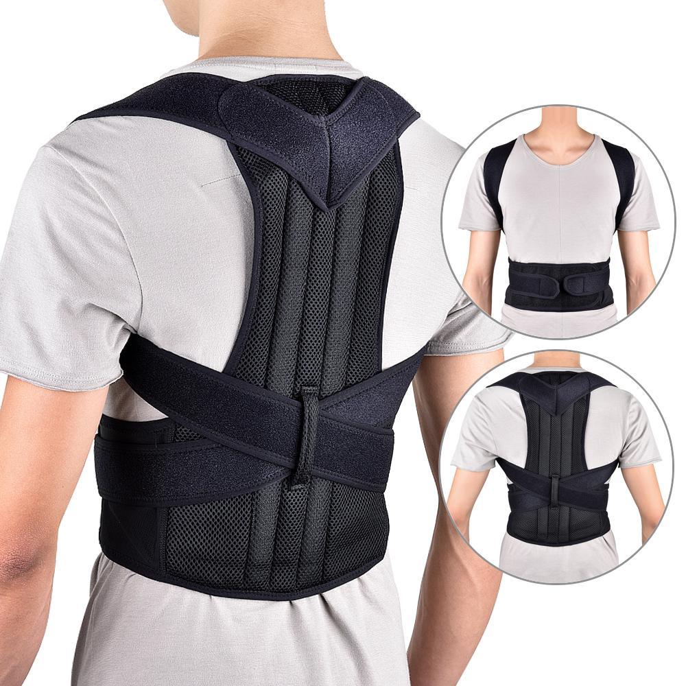 Cinto de Suporte Traseiro Ajustável Ortopedia Postura Espartilho Voltar Brace Suporte Straightener Terapia Ombro Posture Corrector