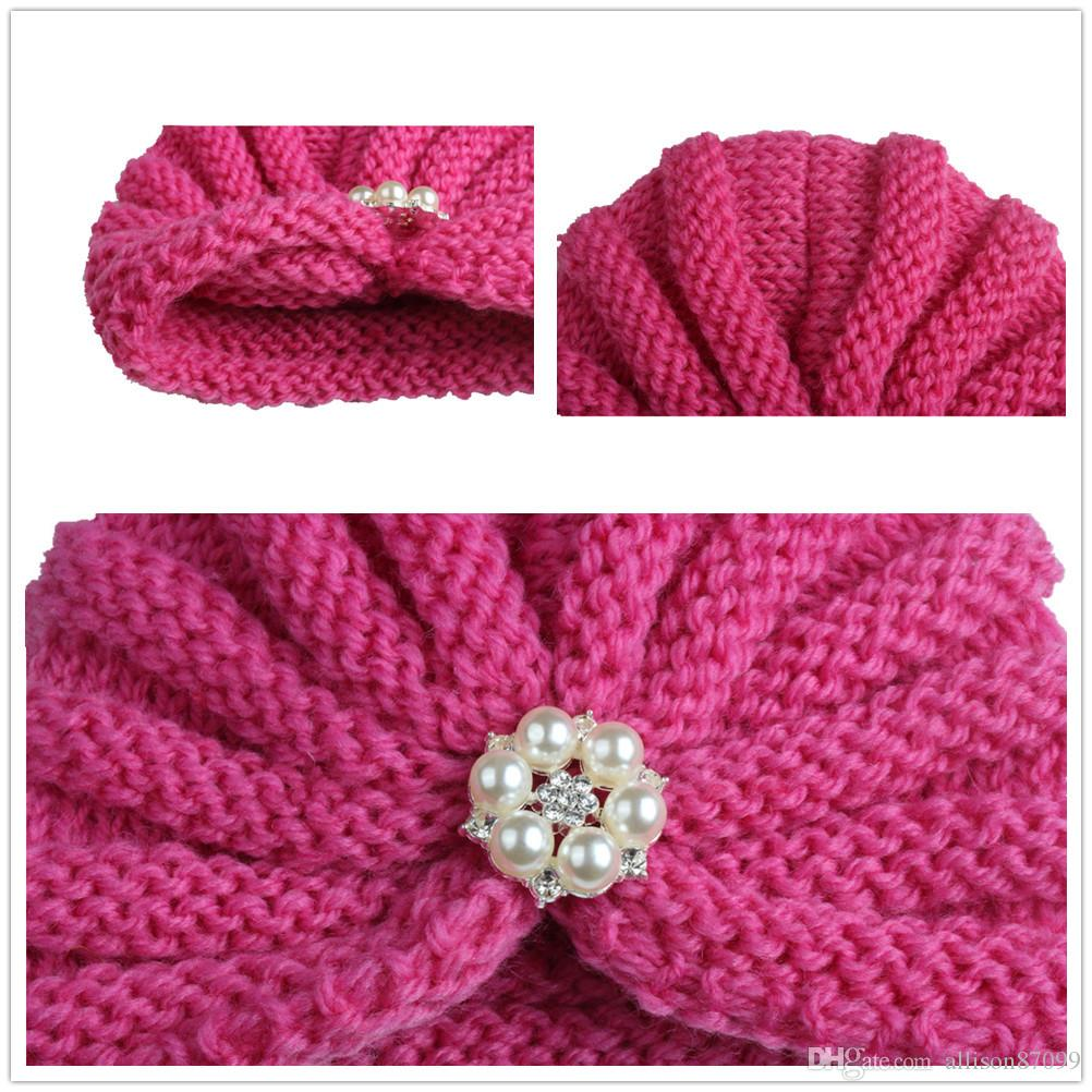 9aba4d1a8 2019 Hotsale Baby Hats Knitted Beanies Pearls Indian Crochet Hats Winter  Ears Protection Wholesale From Allison87099, &Price; | DHgate.Com