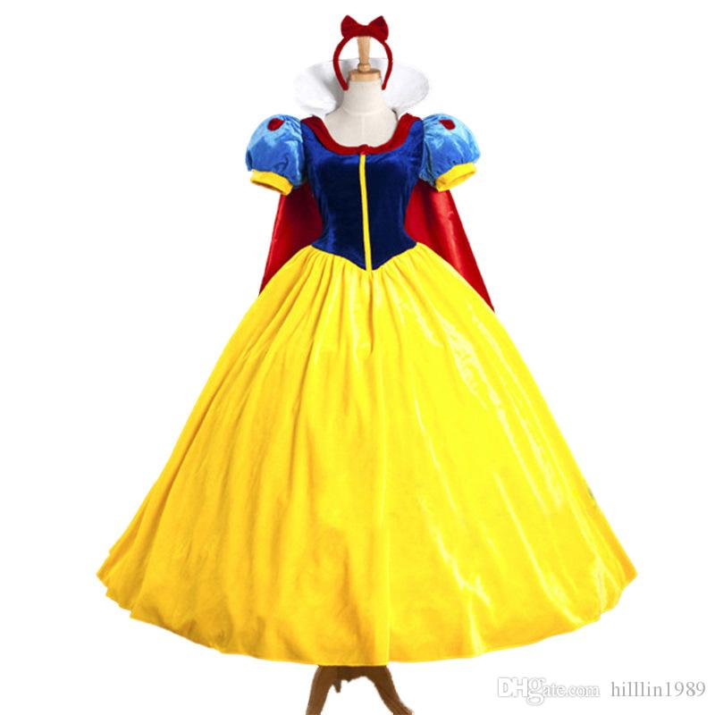 Classic Fairy Tale Princess Costumes Carnival Royal Court Tema Costume Cartoon Movie Role Cosplay Fancy Dress