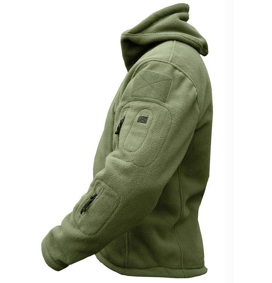 الشتاء العسكرية التكتيكية الصوف سترة الرجال الملابس الدافئة الجيش القطبية متعددة جيب البوليستر قميص عارضة الحرارية هوديي معطف جاكيتات
