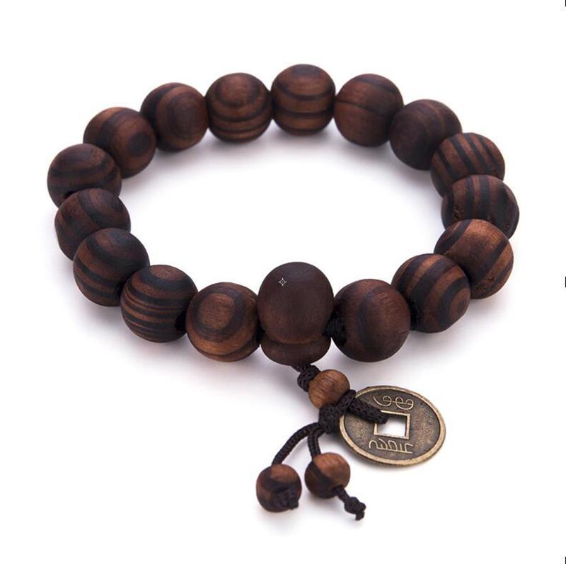 ebony wood unisex bracelet pearl jewelry Ebony wood bead bracelet elastic bracelet