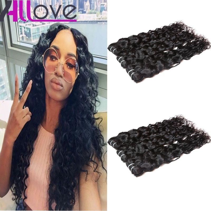 Cheap Brazilian Hair Wefts 4Bundles Wholesale Unprocessed Peruvian Indian Malaysian Water Wave Virgin Hair Extensions Free Shipping