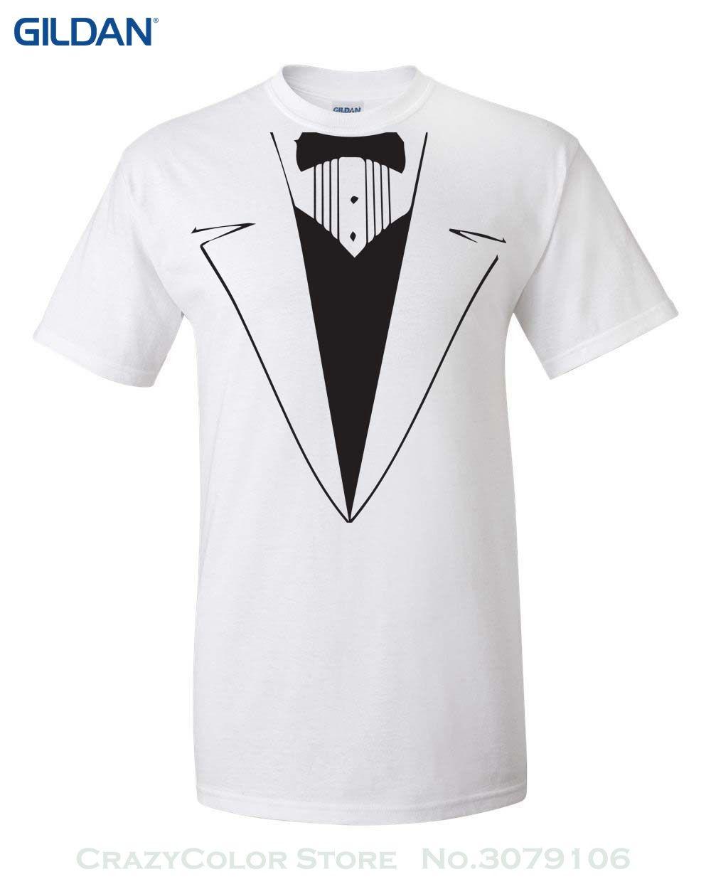 Tuxedo t-shirt formal tux design wedding groom funny men/'s t-shirt tee