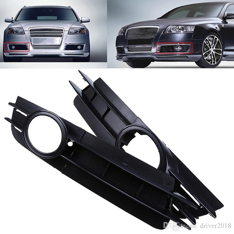 For Audi A6 Volvo C30 S40 Front Bumper Left/Right Side Fog Light Lamp Grille Cover Autos Interior Part