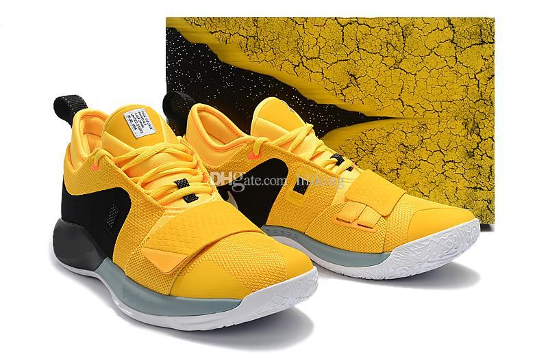 best service 4dce7 88095 2019 2018 New PG1 Men Basketball Shoes Paul George Athletics Yellow And  Black Sneakers PG 1 Los Angeles Home Sport Outdoor Boots Size 40 46 From ...