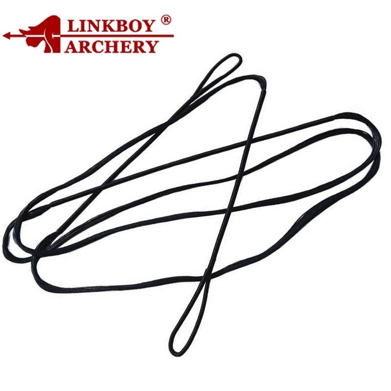 Linkboy Archery 48 '' - 70 '' Cuerdas de arco para tiro con arco Negro para arco de tiro largo Tiro de caza para accesorios de arco