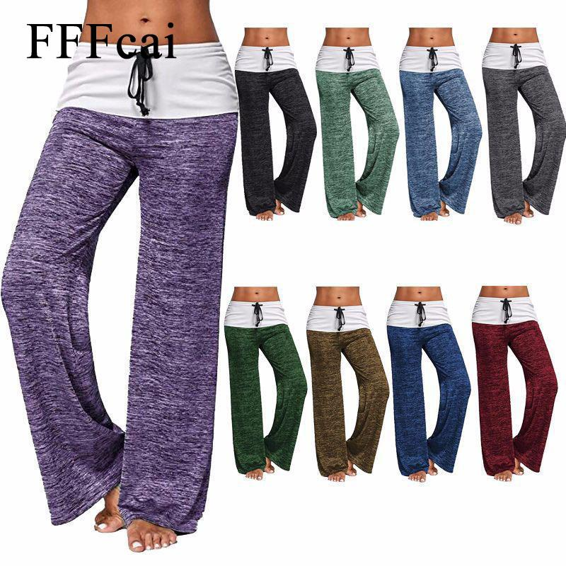 FFFcai 2018 Large Size Closing Pants Trousers Sports Dance Pants Belly Dance Tai Chi Yoga Clothes Pant Women Running Tights