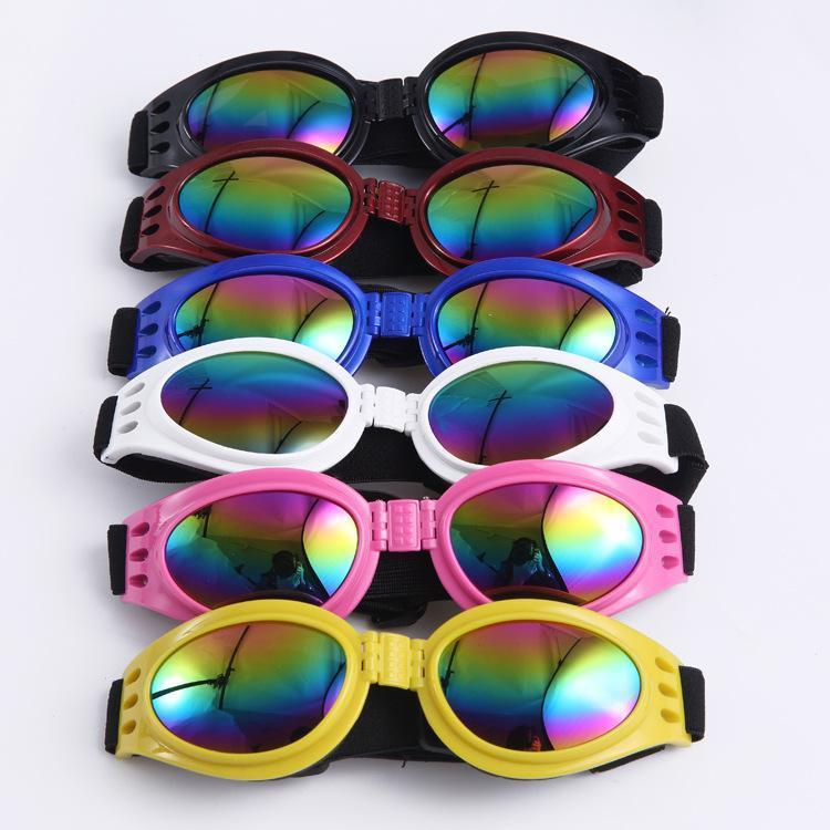 hg Fashion Dog Glasses Foldable Sunglasses Medium Large Dog Glasses Big Pet Waterproof Eyewear Protection Goggles UV Sunglasses Y2286