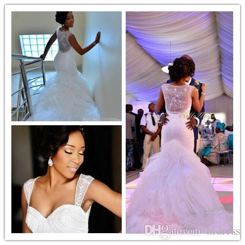 Роскошные старинные Meamaid свадебное платье милая кружева плюс размер свадебные платья Aqqliques Aradal бисер свадебные платья халат де mariee