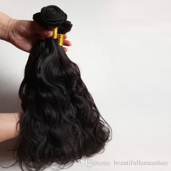 Brazilian virgin Human Hair 3Bundles Natural Wave 8-18inch Factory Wholesale Indian remy hair extensions no tangle long lifetime