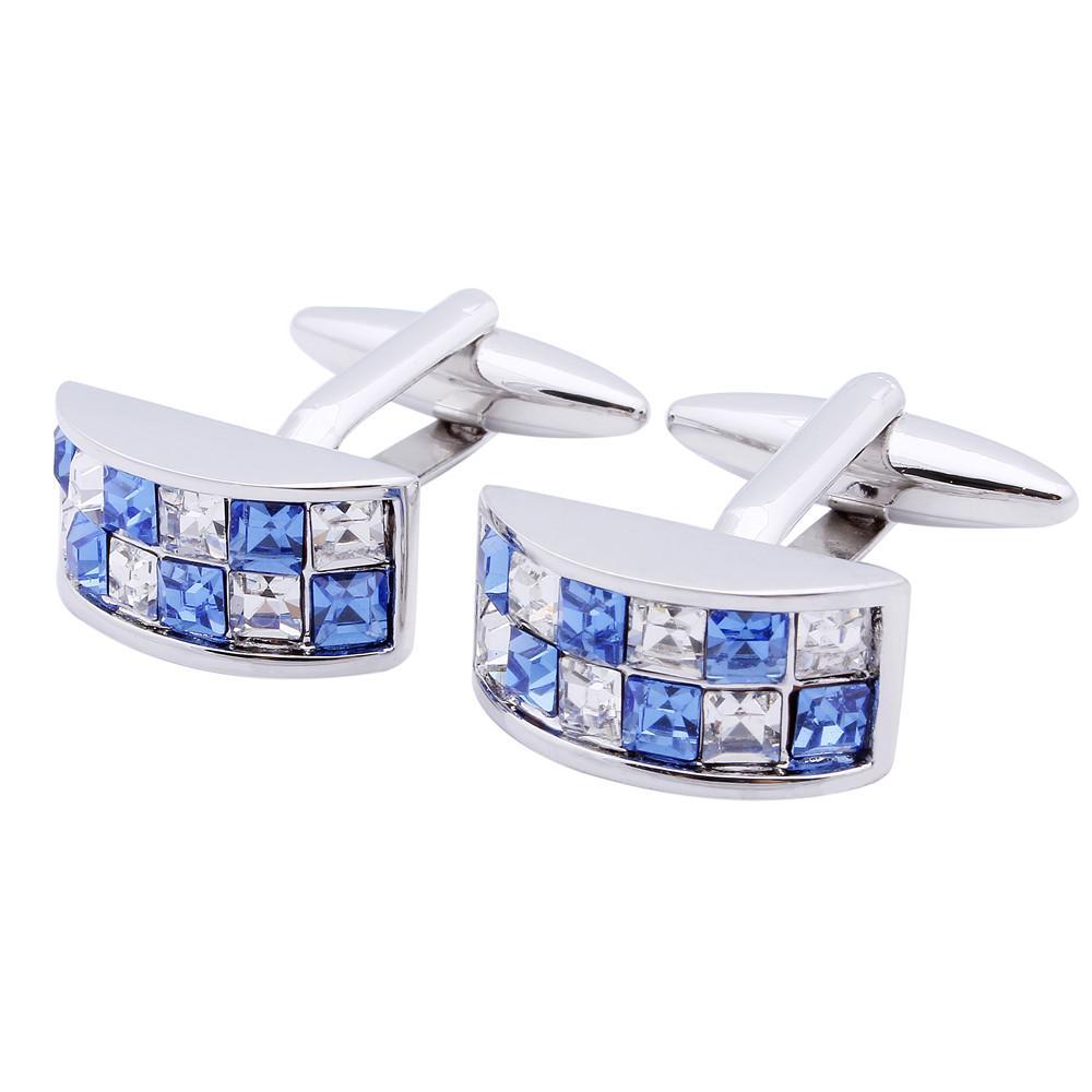 HAWSON colorés cristal boutons de manchette pour hommes chemise blanche robe de mariée avec la boîte