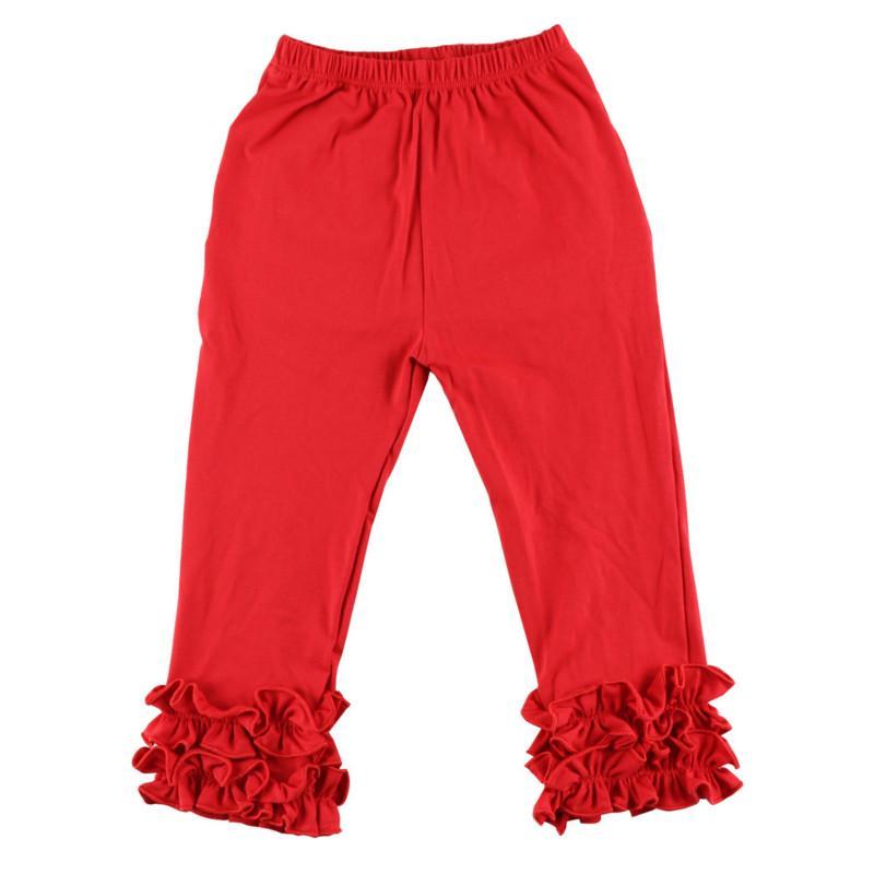 Nuovo neonate di arrivo Ruffle le ghette dei bambini Pantaloni di cotone morbido primavera e l'autunno scherza i vestiti