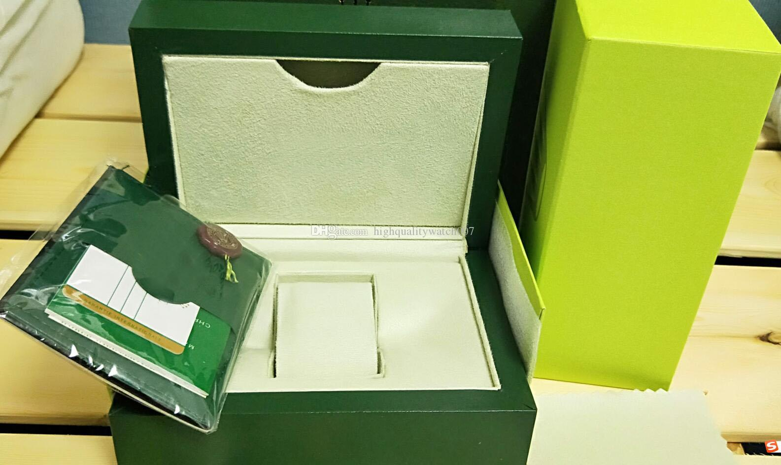 Supplier Green Brand Original Box Papers Gift Watches Boxes Leather bag Card 84mm*134mm*185mm 0.7KG For 116610 116660 116613
