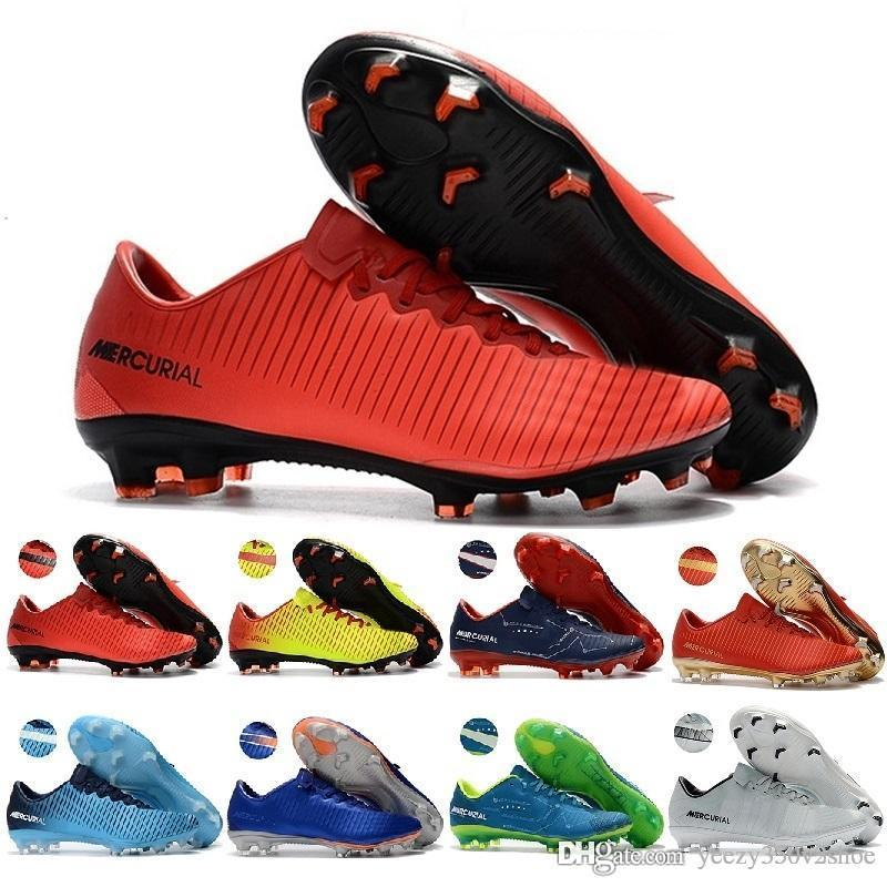 Hot sale 2018 Low Soccer Shoes Mercurial Superfly Ultra FG Football Boots womens Mens boys Soccer Boots Soccer Cleats 35-46