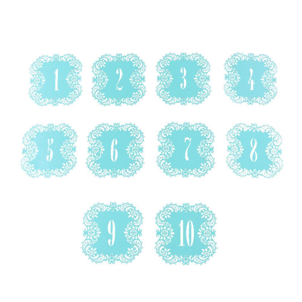 10 PCs Romantique Vintage Table De Mariage Nombre Table Cartes Creux Laser Coupe Numéros de Carte Home Decor Party Favors