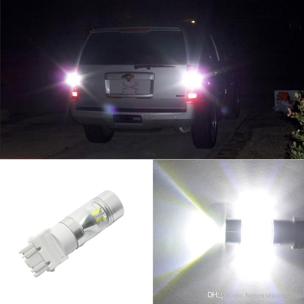 2X T25 3157 자동차 LED 브레이크 라이트 중지 후면 전구 12SMD 자동 회전 신호등 백업 예비 조명 유니버설