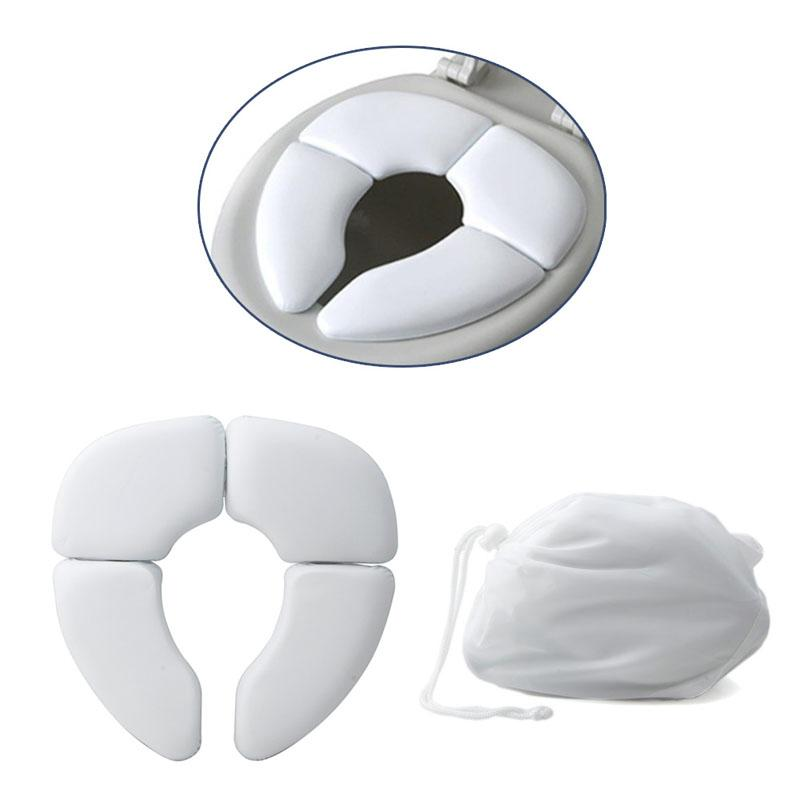 White Portable Folding Child Baby Toilet Seat Soft Potty Chair Pad Cushion Training