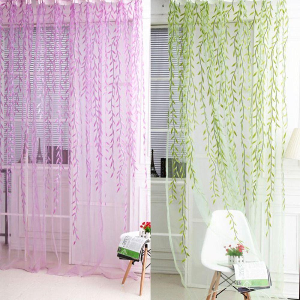 1x2 M Ev Tekstili Ağacı Söğüt Perdeleri Panjur Vual Tül Odası Perde Sırf Paneli Perdeler yatak odası oturma odası mutfak için