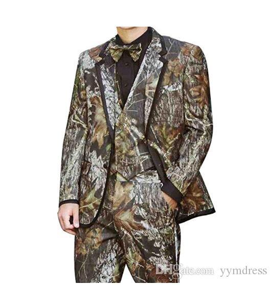 2021 скромный камуфляж напечатанный жених смокинги по индивидуальному заказу самые лучшие мужские костюмы свадьба мужские костюмы невесты (куртка + брюки + жилет + галстук + керский)