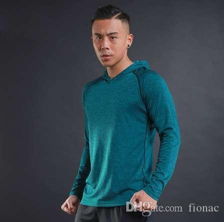 Jesień Cienka moda Męska Kulturystyka Bluzy Bluzy Siłownie Ubrania Casual Slim Dressuit Pullover Kapturem Mężczyźni Plus Rozmiar
