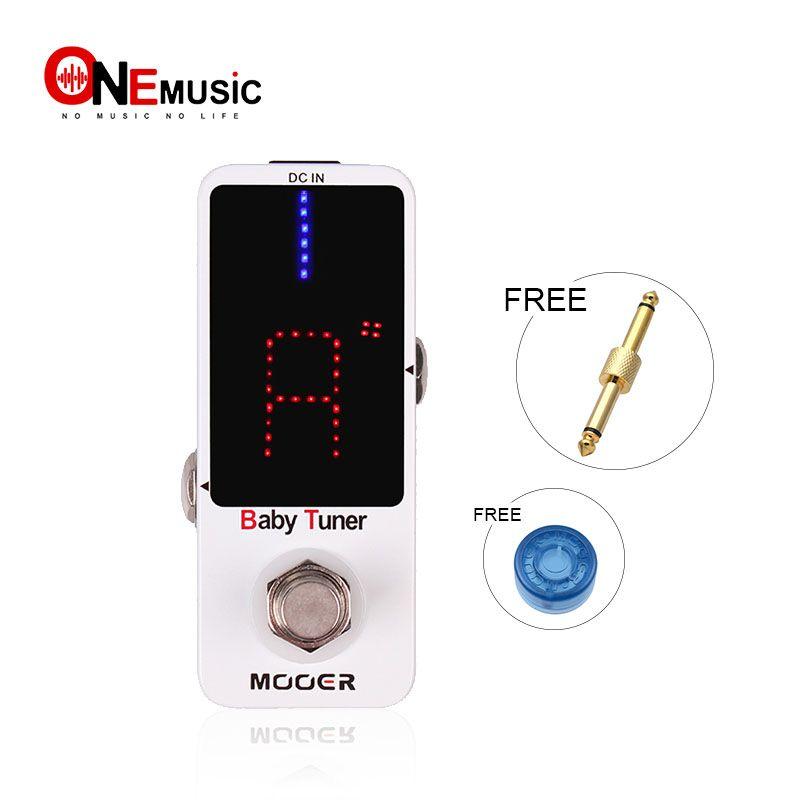 Mooer Baby Tuner Guitar تأثير الدواسة دواسة ضبط دقيقة عالية الدقة دقيقة إلى 1 نقاط لمدة 7 سلسلة غيتار أو 5 سلسلة باس